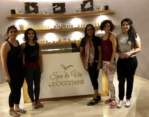 April 13th, 2019: Pilates and massage sessions at the Spa le vie by L'occitane